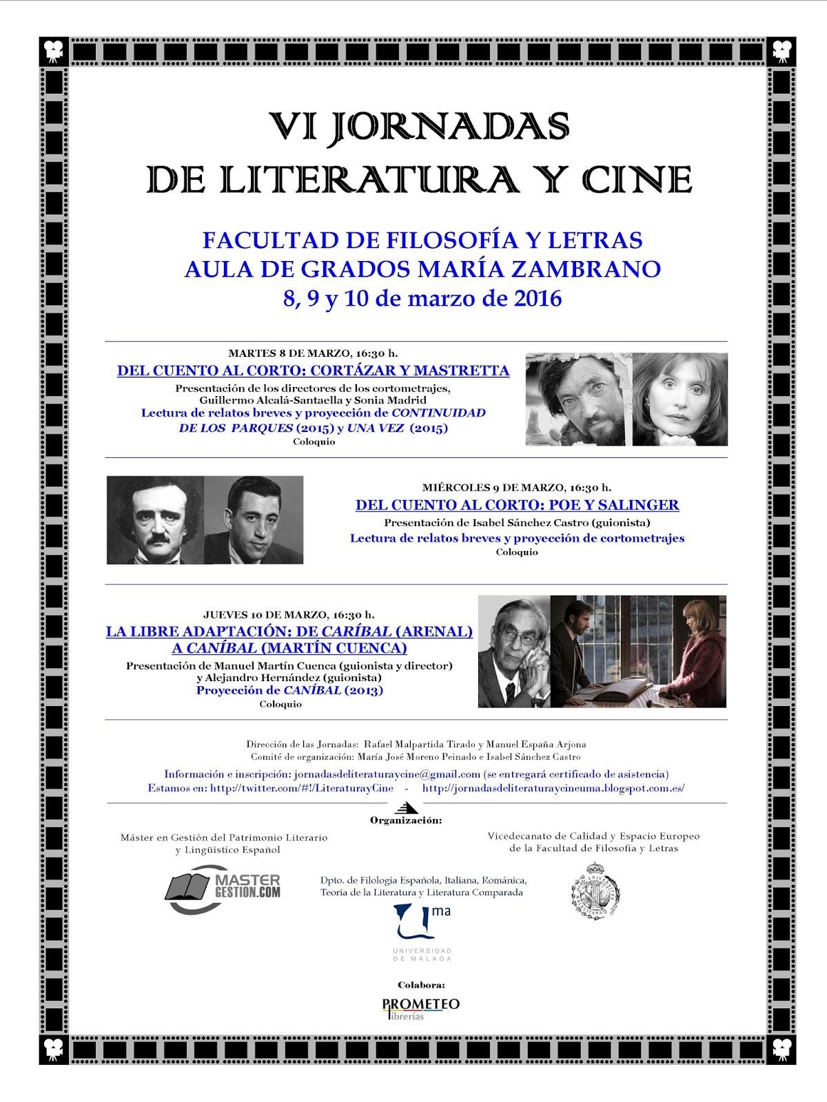 VI JORNADAS LITERATURA Y CINE